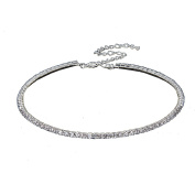 Multiware 1 Row Crystal Cubic Zirconia Tennis Choker Collar Diamante Rhinestone Necklace for Women