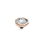 Qudo Famosa Rose Gold Otto 10mm Crystal