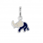 Baby Elephants Pendant Made of 925 real silver