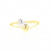 Women's Ring Flowers in Gold Women's Ring 14 Carat 585 Gold yellow white gold two-tone ring 3551