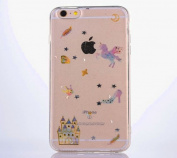 iPhone 6 Case,iPhone 6S Case Clear [With Free Tempered Glass Screen Protector],Mo-Beauty® Bling Shiny Cute Pattern Design Sparkle Glitter Shockproof Shining Fashion Style Soft Flexible TPU Silicone Gel Protective Shell Case Cover For Apple iPhone 6/6S ..