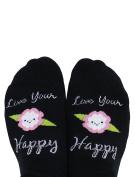 Toe Talk LIVE YOUR HAPPY Non Slip Grip Socks For Pilates Barre Yoga & Dance