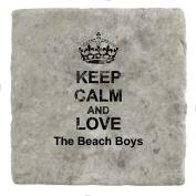 Keep Calm and love The Beach Boys - Marble Tile Drink Coaster