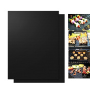 WINOMO Best BBQ Grill Ma Heat Resistant Non-Stick Grill Sheet Oven Pan Liners Baking Pad Mat 2pcs