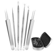 Blackhead Remover Tool Kit,Zoron 6 Pcs Professional Surgical Blackhead Comedone Extractor Tools - Treatment for Blemish,Whitehead,Pimples