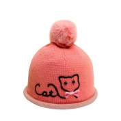DaoRier lovely Wool Knitted Hat Warm Comfortable with Cute Plush Ball for Baby Children 3-24months