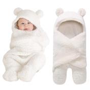 Kolylong Newborn Baby Boy Girl Lovely Bear Swaddle Baby Sleeping Wrap Blanket Photography Prop