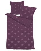 Dormisette Flannel Bed Linen 155 x 220 cm, Cotton, red, 155 x 220 cm