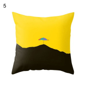 display08 Pineapple Leaf Yellow Pillow Case Sofa Waist Throw Cushion Cover Home Decor