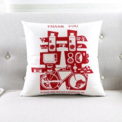 Teebxtile Pattern decoration geometric pillowcase pillow sofa throwing pillowcase A soft lint-free cloth, ,45*45cm no-,CH411 red on white.