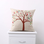 Teebxtile Pillow cover sofa cushion cover home decoration products The ,45x45cm cotton with high-quality core), the fortune Tree