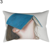 Little Finger Fashion Scenery Print Pillow Case Cushion Head Cushion Cover Home Office Decor