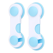 Decdeal 2Pcs Baby Safety Lock Protection Child Kid Cabinet Door Drawers Refrigerator Toilet Lock