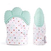 Gumrun Baby Teething Toys Baby Teething Mittens Glove Baby Teething Mitten Soothing Pain Relief Age 3-12 Months