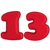 Selecto Bake - 13th Birthday Cake Large Numbers Silicone Mould Non-Stick 25.5 X 19.5 X 5.6cm