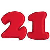 Selecto Bake - 21st Birthday Cake Large Numbers Silicone Mould Non-Stick 25.5 X 19.5 X 5.6cm
