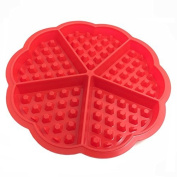Tione-Ve Heonert Shonepe Silicone Coneke Woneffles Moulds Ice Cube Chocolonete Moulds