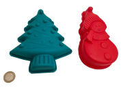 Christmas Snowman Christmas Tree Silicone Baking Mould Chocolate Mould Ice Cube Mould Christmas Chocolate Mould Cake Craft Making Royal Houseware