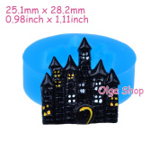 J272 Silicone Fimo Mould Mould Halloween Castle Haunted