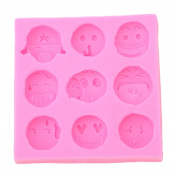 Elistelle Smile Face Silicone Mould Ice Cube Chocolate Cake Cupcake Soap Tray Moulds DIY