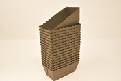 Bakery direct 100 Chocolate brown disposable Mini Loaf/cake moulds