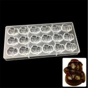 VAK 24 cells snowman shape Polycarbonate square Chocolate Moulds,PC Bakeware Tray, Baking Pan Cake Pastry Candy Ice Tools Chocolate Mould, Kitchen Baking Supplies