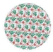 SmileKIDZ ~ 23cm Round ~ Christmas Cake Card / Board ~ SILVER ~ Bows and Holly