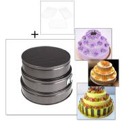 Springform Pan, outgeek 3Pcs Cheesecake Pan Round Non-stick Leakproof Baking Pan Springform Pan with 3 Cake Scraper