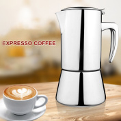 BourneTech Super High Quality Stainless Steel Moka Express Espresso Maker Moka Pot, Special Design By Coffee Lovers