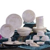 Ceramic tableware bowl dish household microwave oven bowl bowl chopsticks soup