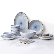 Pottery bowl family tableware and dish suit