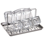 LC Stainless Steel Cup Holder KVT Bar Short Cup Holder Whiskey Glass Holder Drain Storage Rack Hanging Six