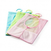 Zhichengbosi 3pcs Clothespin Bag with Hanger Storage Bag For Kitchen Bathroom