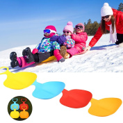 Forfar Thickened Skiing Pad Sled Plastic Board Portable Lightweight Use for Snow Sand Grass Random Colour Suitable for Ch