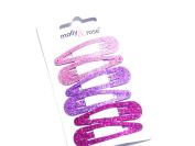 La Peach Fashions Gorgeous Children pink Tonal Glitter Snap Clips Hair Clips Hair Slides