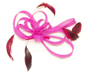 Pretty Cool - Mesh Ribbon Bow & Feather Comb Fascinator