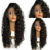 Mufly Lace Front Wig Synthetic Hair Glueless Kinky Curly Weave Afro Hair Heat Resistant Long Black Full Wigs for Party Fancy Dress 150% Density