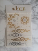***SPRING . * GOLD AND SILVER temporary tattoos - 12 high, quality, beautiful designs