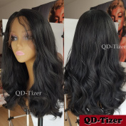 QD-Tizer 180 Density Long Wavy Hair Wig Body Wave Synthetic Lace Front Wigs with Baby Hair for Women