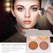 JUHON 4 Colours Makeup Highlighter Makeup Palette Highlighter