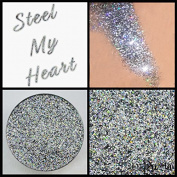 Prima Makeup Steel My Heart Multi-tonal Holographic Pressed Glitter Eyeshadow Lips