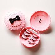 Msmask Flower Pink Bowknot False Eyelash Storage Box Makeup Case Beauty Useful