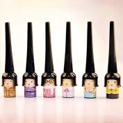6Pcs Lovely Doll Black Liquid Eyeliner Waterproof Long-lasting Thin Cute Eye Liner Pen Eyes Makeup