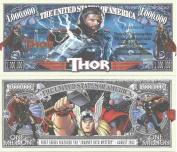Novelty Dollar Thor American Super Hero Million Dollar Bills x 4 Comic Book Character