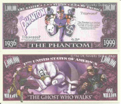 Novelty Dollar The Phantom The Ghost Who Walks Million Dollar Bills x 4 Comic Book Hero