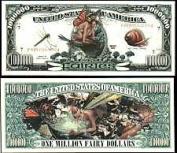 Fairies Million Dollar BillÂÂ With Bill Protector by American Art Classics
