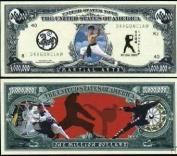Martial Arts Million Dollar Bill With Bill Protector by American Art Classics