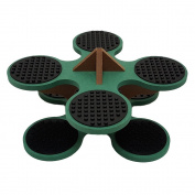 Base Ace Mini Kit Green and Brown, compatible with all major construction toy building brick brands