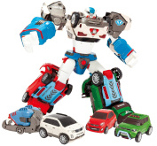 YOUNG TOYS Tobot Deltatron 3 Cars (X+Z+D) Transformer Robot Toy Action Figure