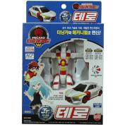SONOKONG Turning Mecard W Junior Tero (Jr) Robot Toy Car Transformer Animal Toy + Superdaddy Highlighter
